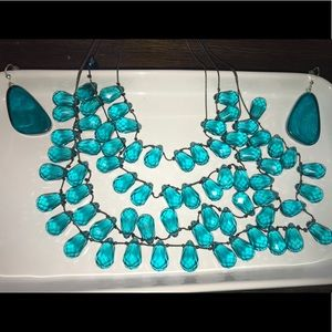 Jewelry - Turquoise Layered Necklace and Earring Set